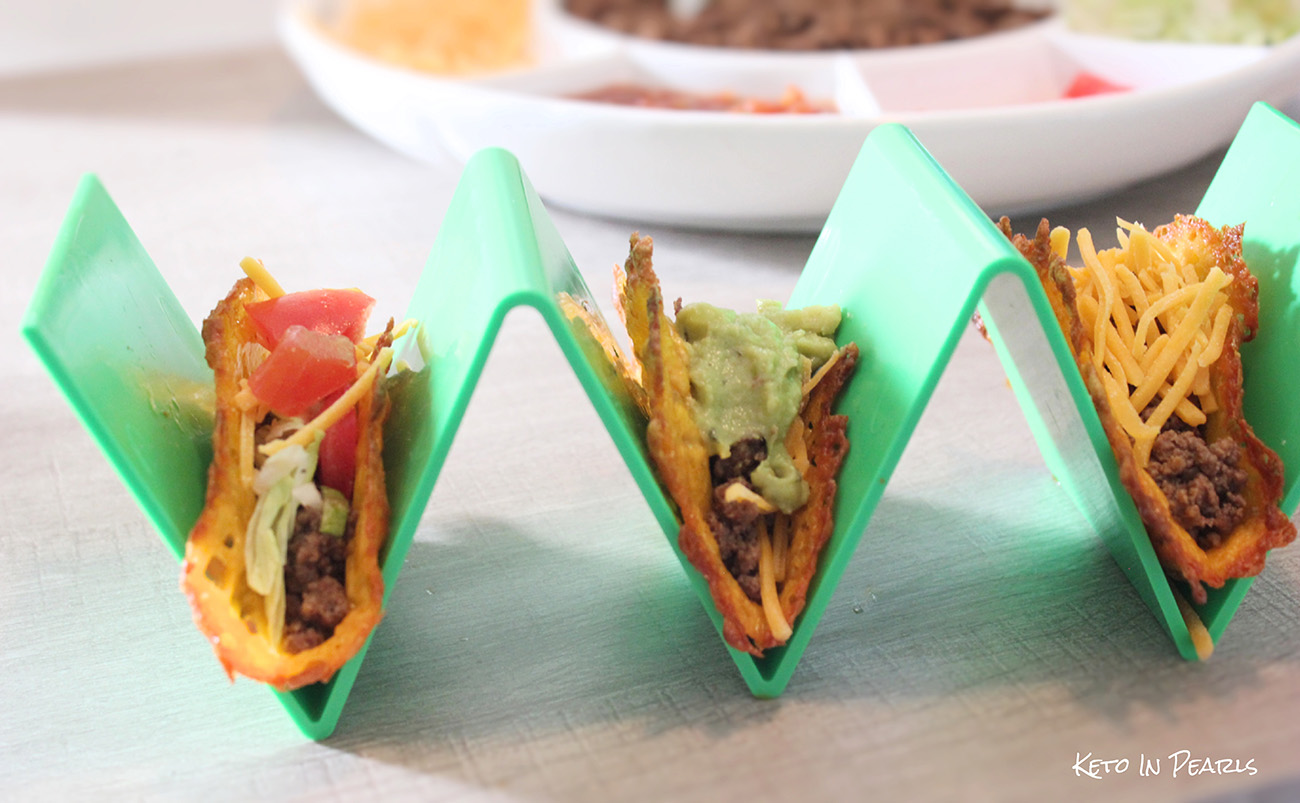Easy keto tacos made with ground beef and homemade taco seasoning. No need to worry about preservatives or maltodextrin with this recipe. Ready in under 30 minutes!