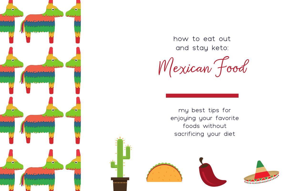 Eating at your favorite Mexican restaurants is possible to do on the keto diet! See my tips and tricks for navigating the menu when you want to eat Mexican food out on keto!