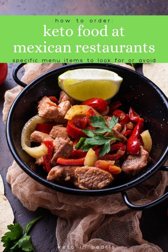 Eating keto at Mexican restaurants is possible to do on the keto diet! Learn how to navigate the menu when you want to eat Mexican food out on keto!