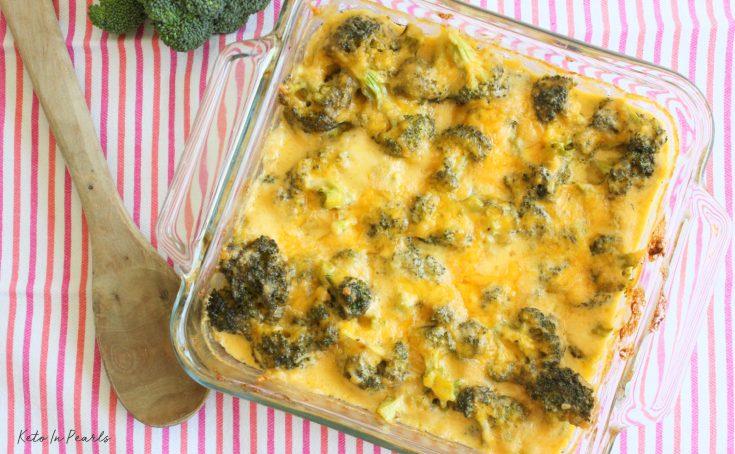 Cheesy Ranch Broccoli & Cauliflower Casserole
