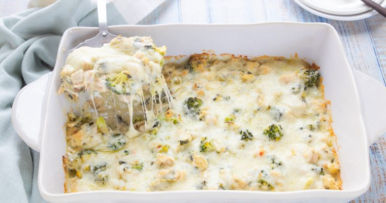 Spinach Artichoke Chicken Casserole (keto, low carb)