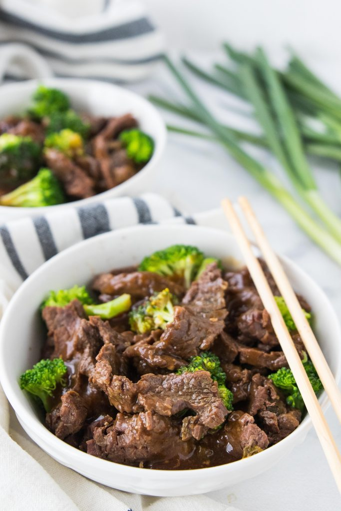 Better than takeout low carb beef and broccoli. Make it in the Instant Pot or crock pot for an easy dairy free keto dinner.