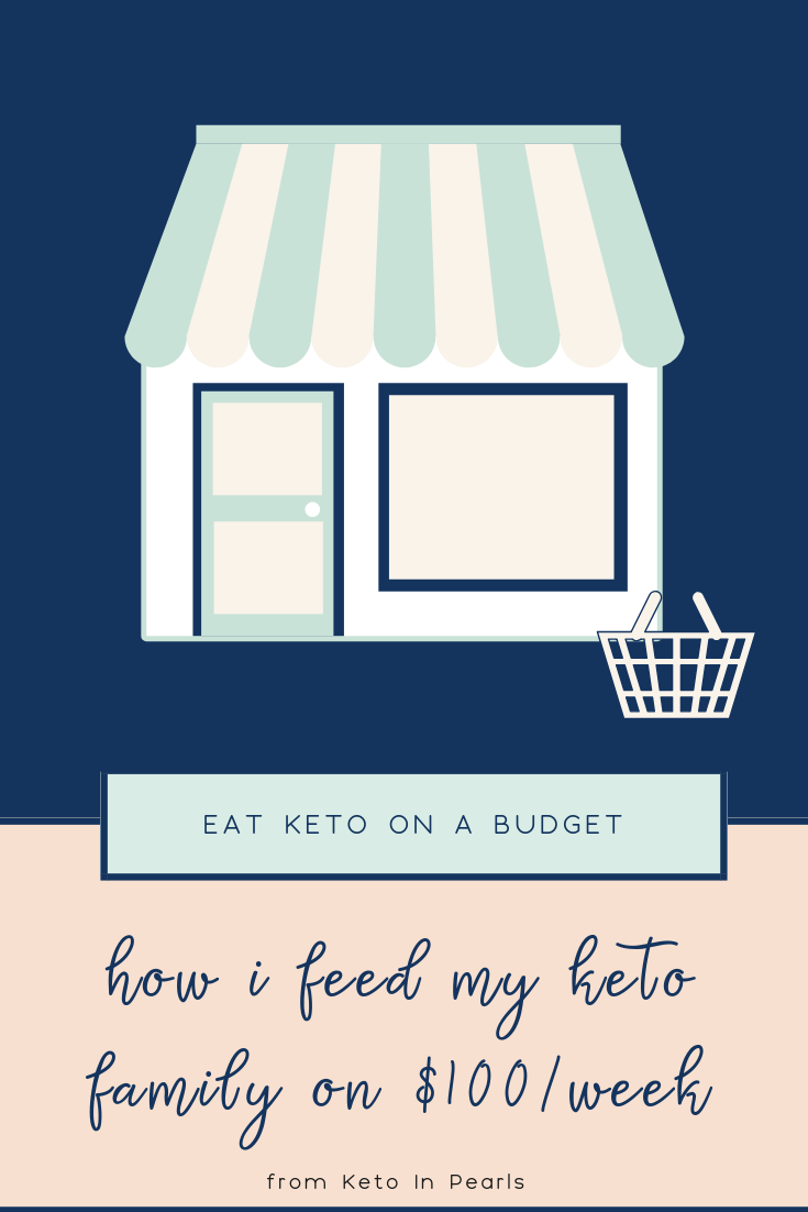 How I feed my family keto meals on only $100 per week. It is possible to eat keto on a budget! I'll show you exactly what I buy and how much I spend.
