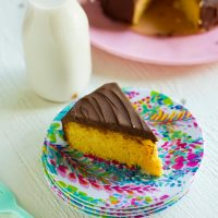 Keto Yellow Cake with Chocolate Frosting