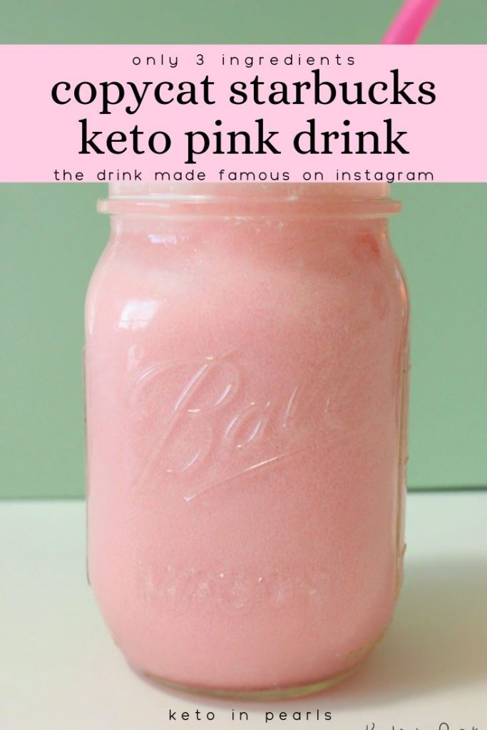 A step by step guide to make your own keto pink drink at home. Save carbs and money by making your copycat Starbucks keto pink drink at home.
