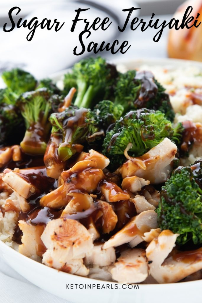 This sugar free teriyaki sauce is a simple and fast way to curb the hibachi craving on your ketogenic diet. Ready in just 10 minutes. Perfect for keto chicken teriyaki, beef, hibachi vegetables, or cauliflower rice!