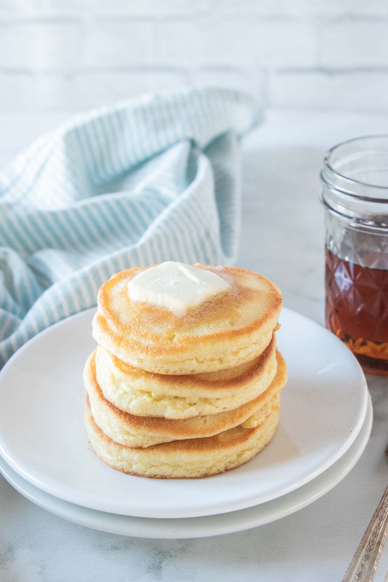 Short stack of the best keto pancakes.