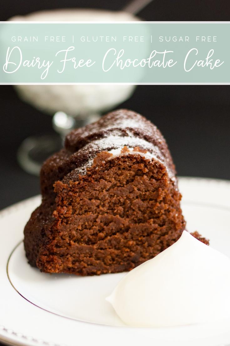 Dairy free keto Chocolate Cake