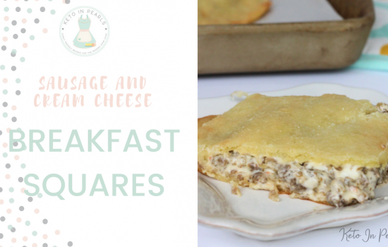 Sausage & Cream Cheese Breakfast Squares