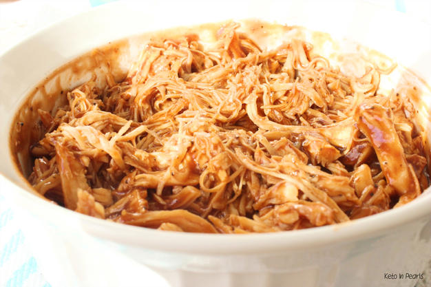 Sugar Free Keto BBQ Pulled Chicken