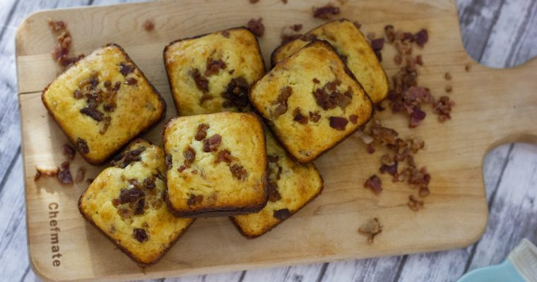 Maple Bacon Cornbread Muffins
