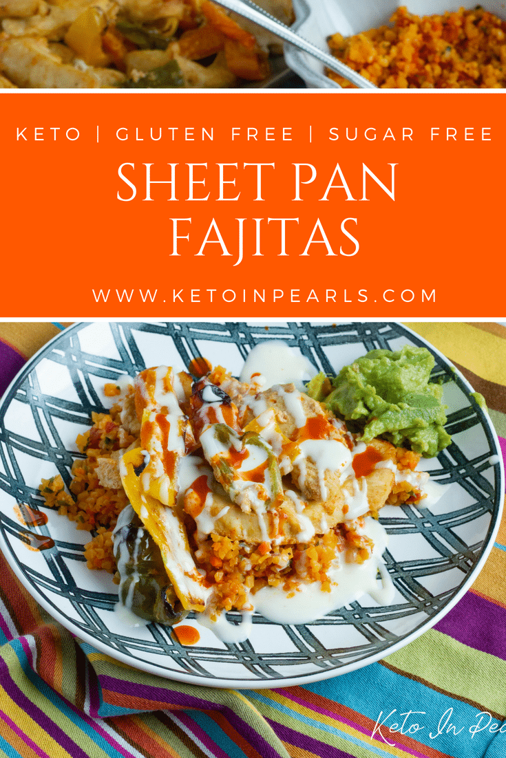 Keto friendly chicken fajitas made easy with this 30 minute meal! Clean ingredients, fast prep, and full of flavor! Less than 4 net carbs per serving!