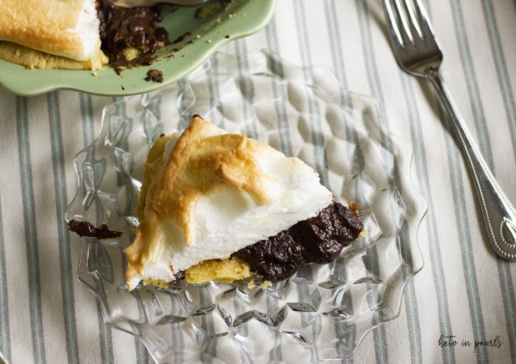 Keto Chocolate Pie with Meringue