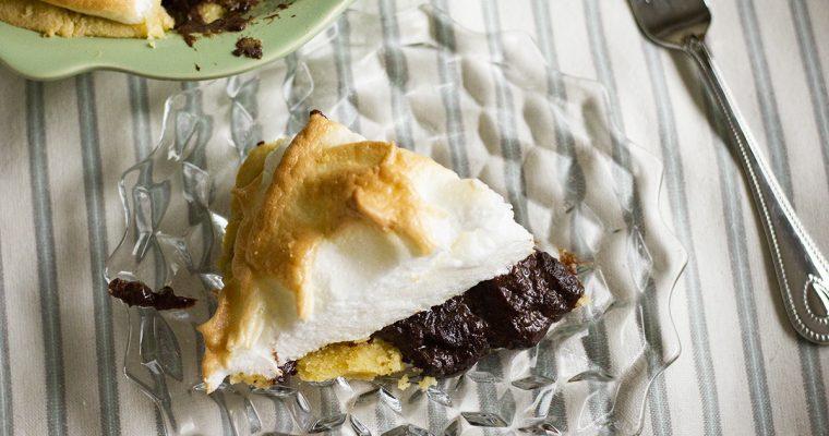 Keto Chocolate Pie with Meringue