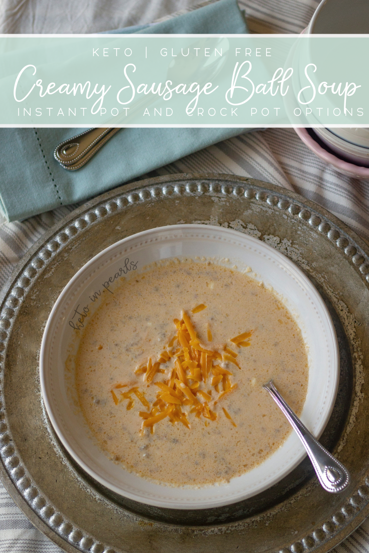 A simple and comforting keto soup that can be made in the Instant Pot or Crock-Pot. You could even eat this for breakfast! Only 6 net carbs per serving.