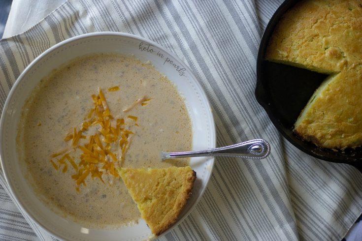 Keto Instant Pot Creamy Sausage Ball Soup