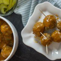 Keto Hamburger Meatballs with Tangy Dipping Sauce