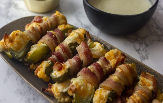 Bacon Wrapped Pickle Poppers