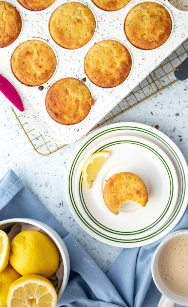 Bright and fresh, these keto lemon poppyseed muffins have everything you need to start your day. Just one bowl and common low carb ingredients are all you need to make these easy keto muffins. And at only 2.8 net carbs, you can even have two!