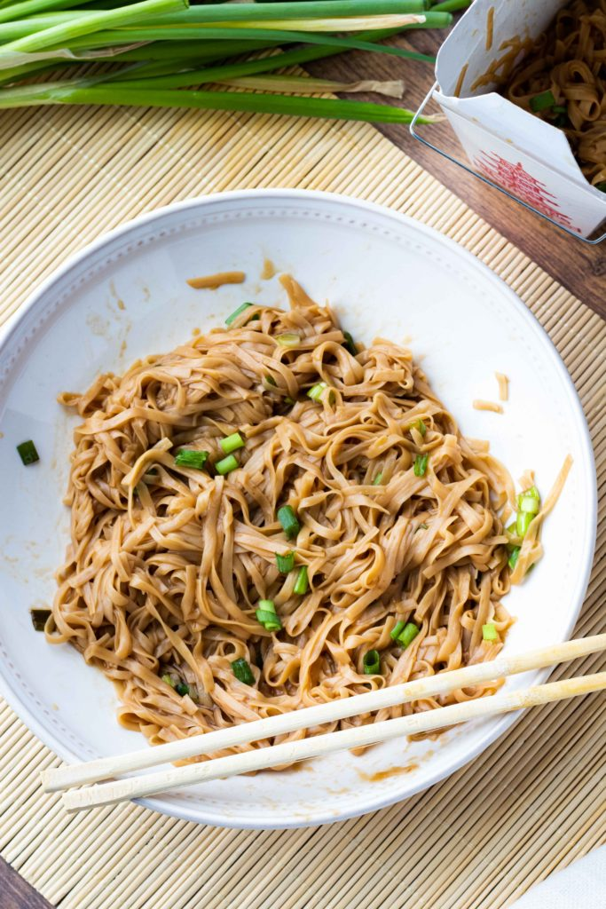 Copycat low carb lo mein rivals any takeout restaurant.