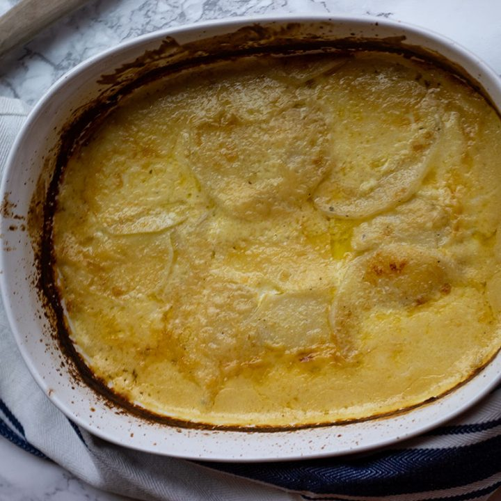 Keto turnip gratin is a keto swap for potatoes. Thin slices of turnips are baked in a rich cheese sauce until tender in this keto side dish.