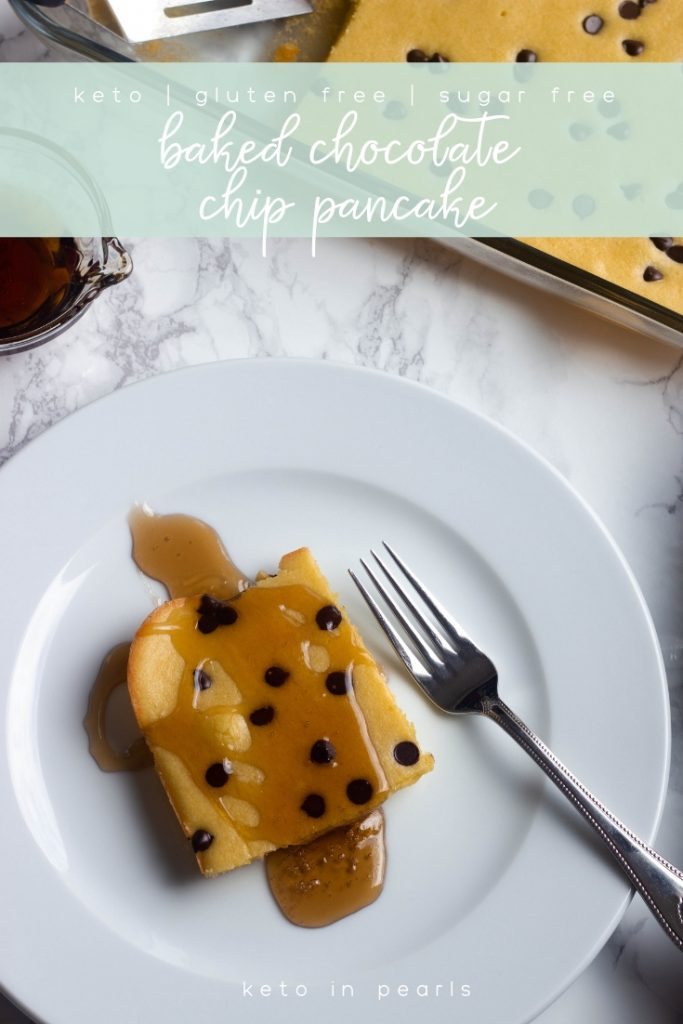 Meal prep your keto pancakes with this easy baked keto pancake. Buttery, sweet, and low in carbs, this baked pancake is ideal for busy mornings.
