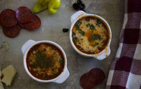 Low Carb Pizza Soup
