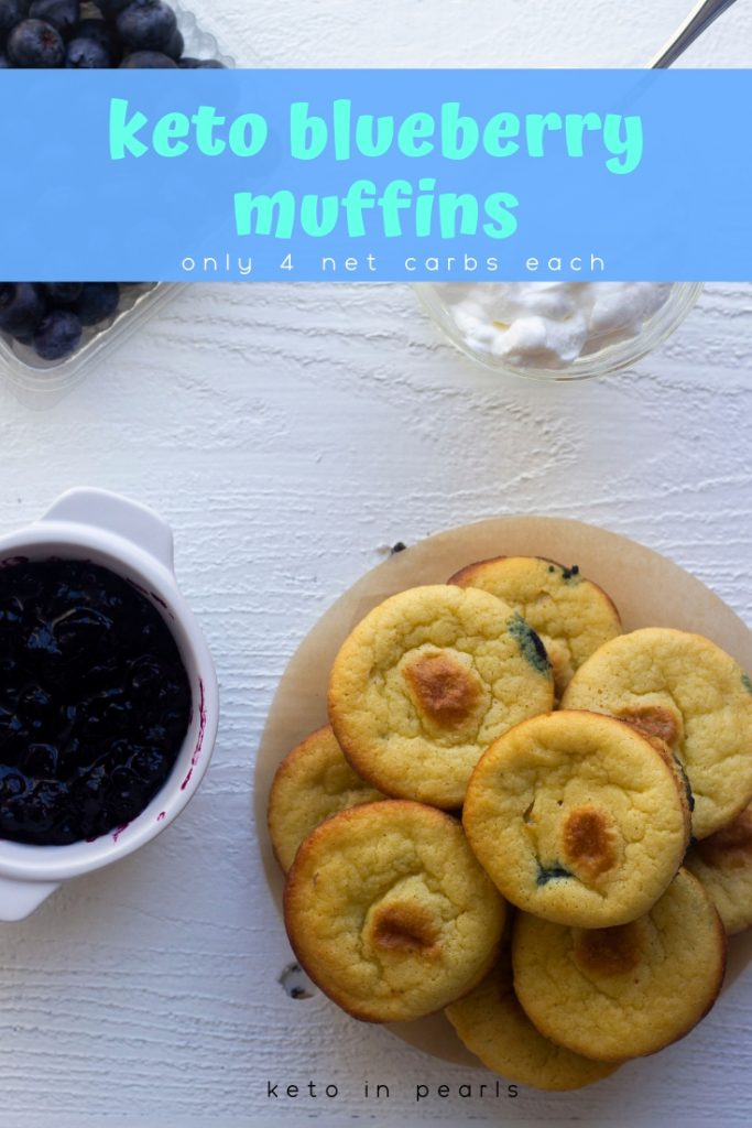 Easy keto blueberry muffins made with simple ingredients. A kid friendly keto breakfast that you can meal prep. Only 3.5 net carbs per muffin.