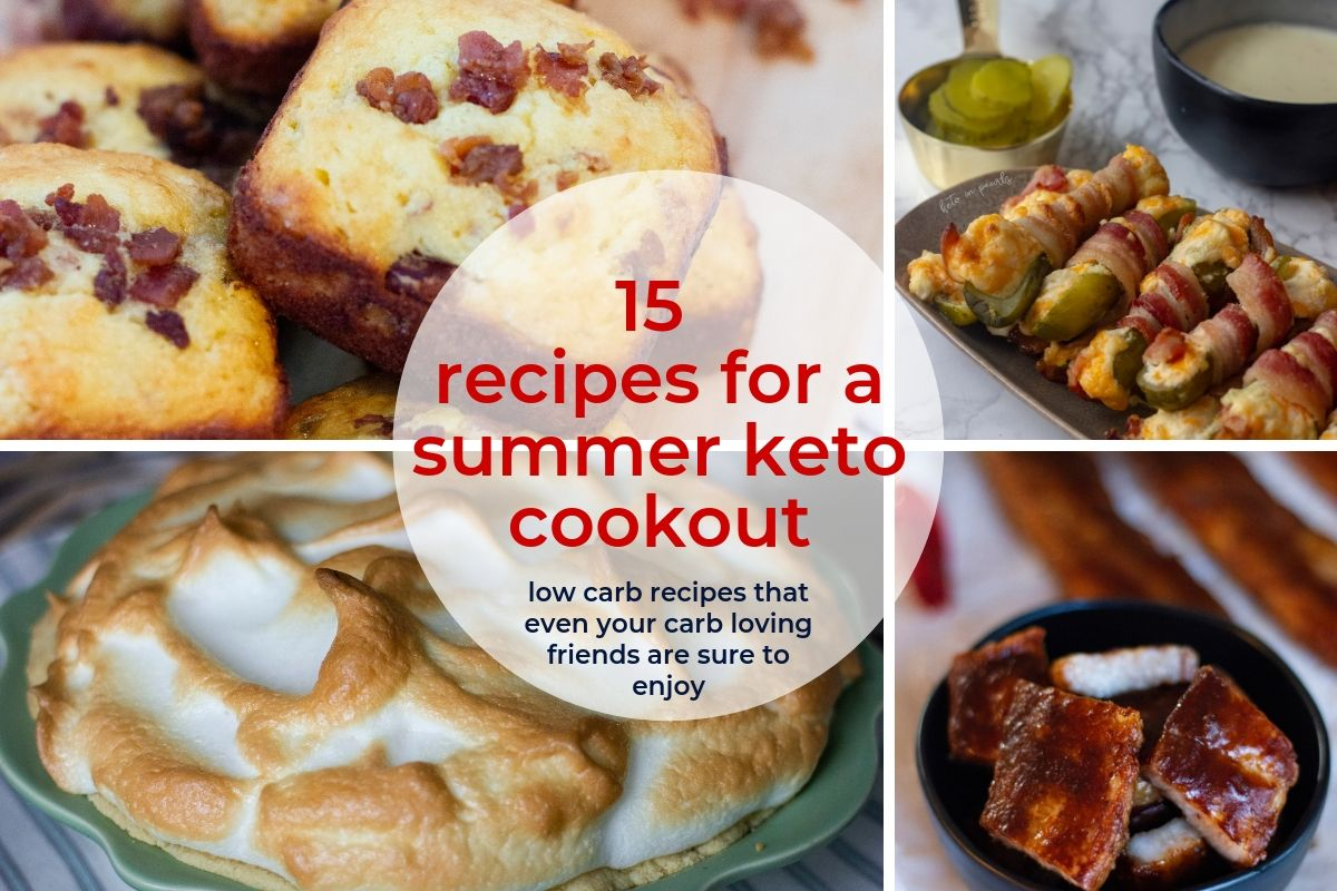 Hosting a keto cookout is easy with these 15 low carb bbq recipes that all of your carb loving friends are sure to love. Including keto cornbread and bbq!