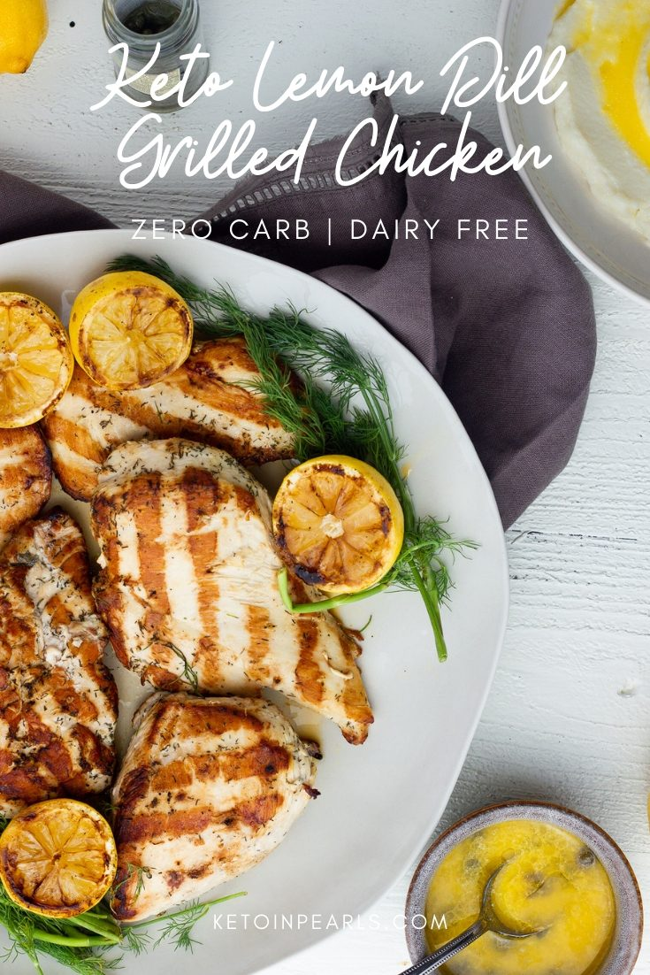Keto Lemon Dill Marinade for chicken, fish, seafood, and pork.