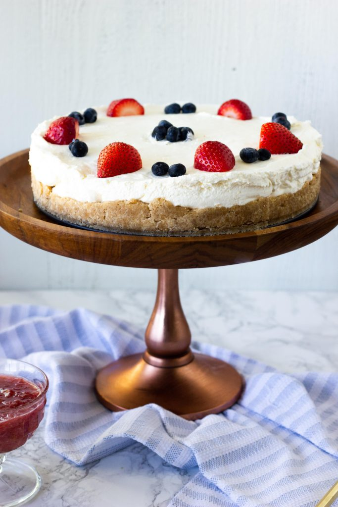4 net carb Keto No Bake Cheesecake