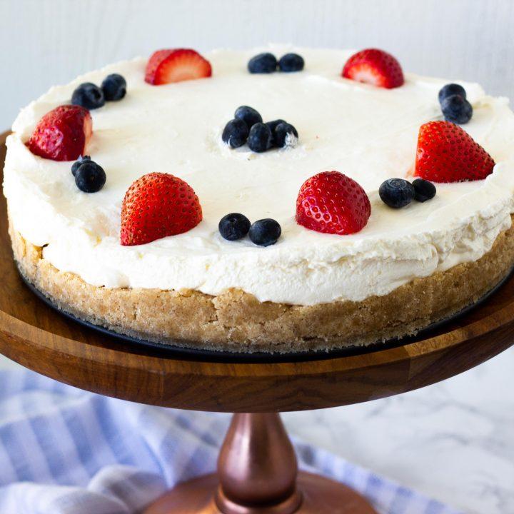 Easy Keto No Bake Cheesecake
