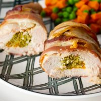 Crockpot Keto Stuffed Chicken with Bacon and Cheese