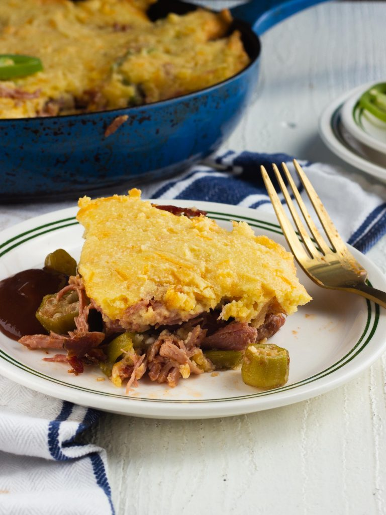 Keto BBQ Casserole with Pulled Pork and Bacon