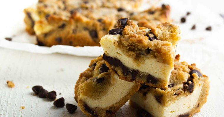 Chocolate Chip Keto Cheesecake Cookie Bars