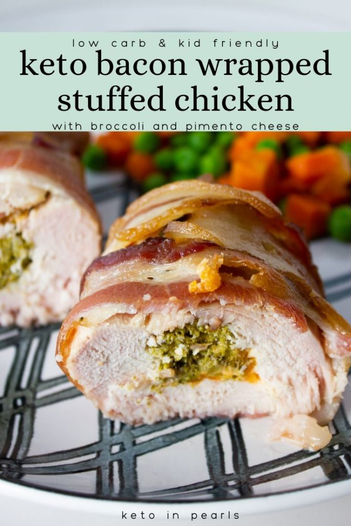 Broccoli, cheese, and bacon steal the show in this keto stuffed chicken! This keto crockpot recipe is easy, kid friendly, and only 1.5 net carbs per serving.