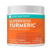Further Food Superfood Turmeric Golden Milk Boosted with 7 Superfoods & Adaptogens | Plant-Based, Sugar-Free, Non-GMO (30 Servings)