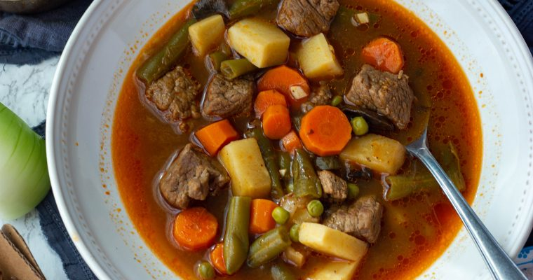Low Carb Vegetable Beef Soup {keto, paleo, whole30}