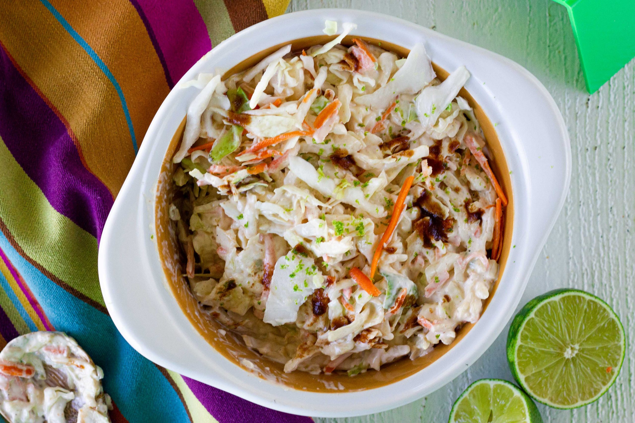 Low Carb Chipotle Lime Mexican Coleslaw