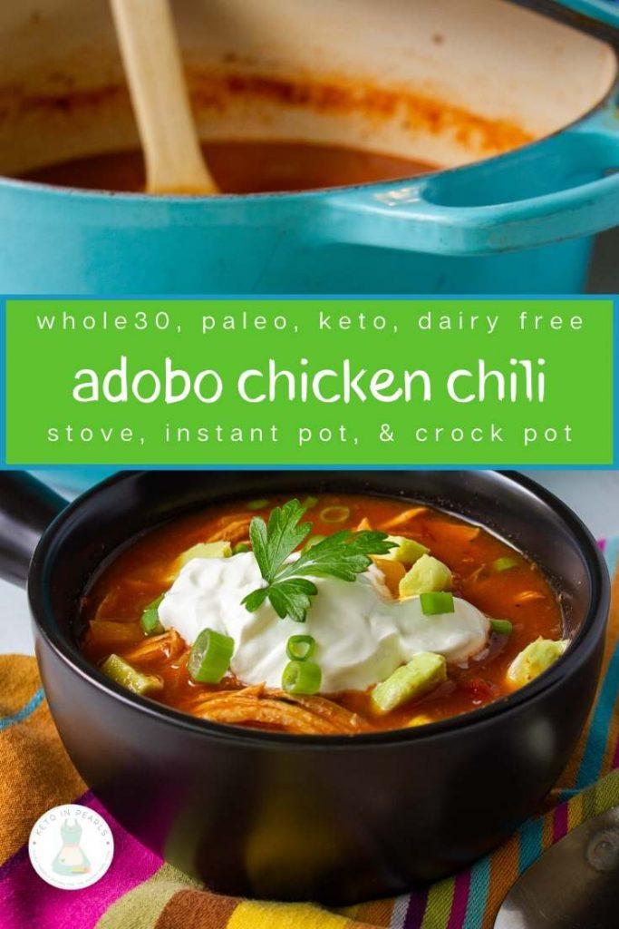 Adobo Chicken Chili Keto Paleo Dairy Free Whole30 Keto In Pearls