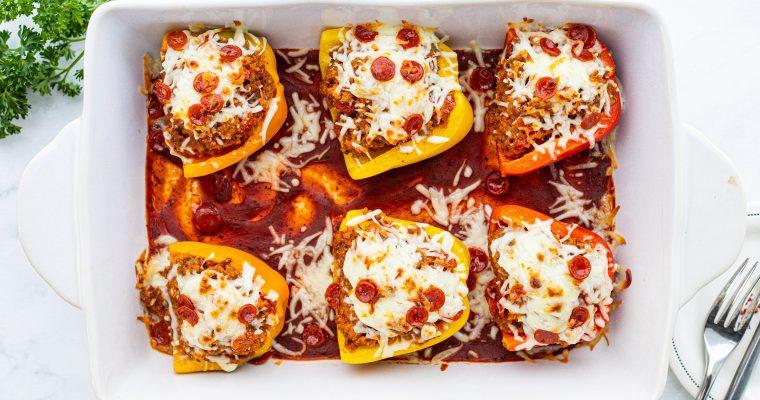 Low Carb Pizza Stuffed Peppers