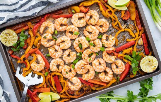 Chili Lime Keto Sheet Pan Shrimp