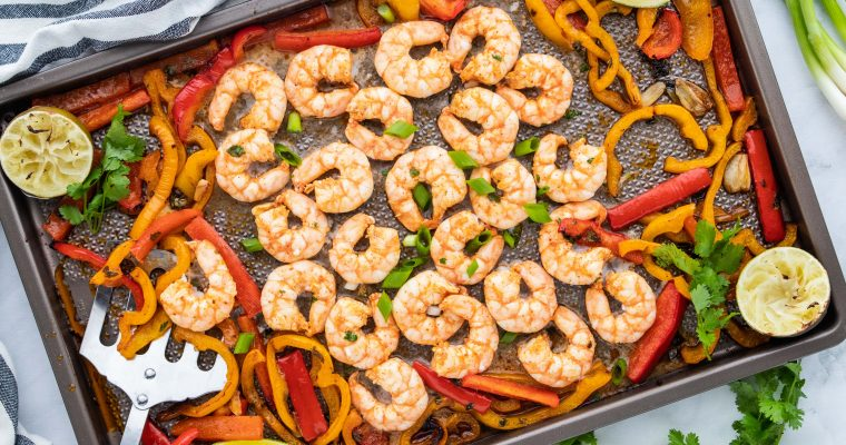 Chili Lime Keto Sheet Pan Shrimp