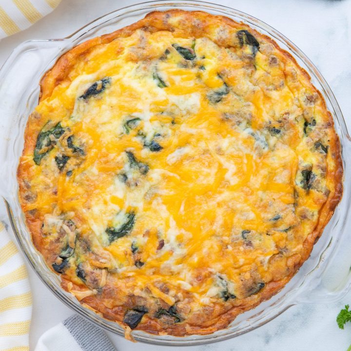 Sausage and Spinach Keto Quiche