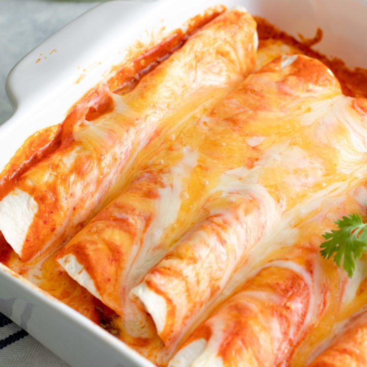 Easy Low Carb Enchiladas with Beef