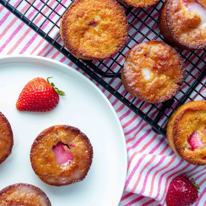 Low Carb Strawberry Shortcake Muffins