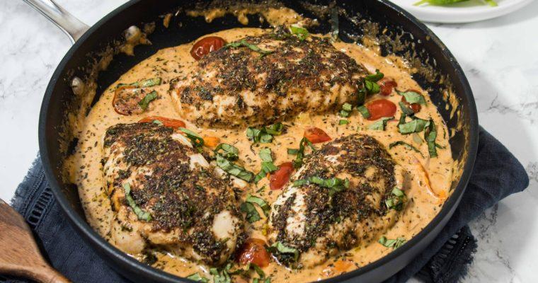 Bruschetta Chicken (Clean, Low Carb, Keto)