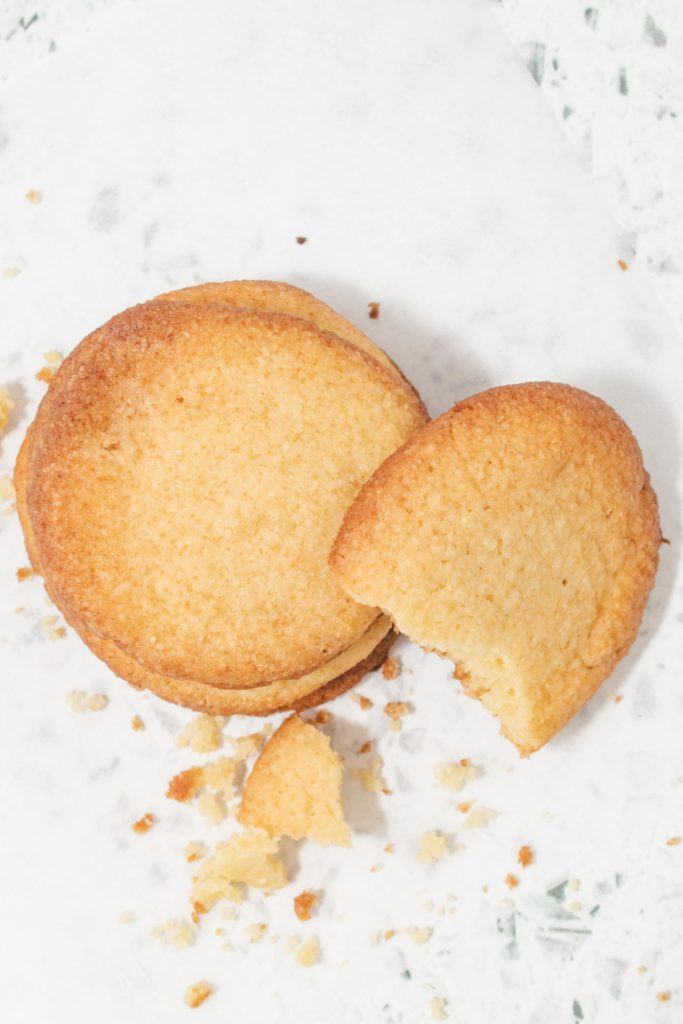 Buttery sugar free sugar cookies with crispy edges, a soft center, and delicate crumb. Perfect for frosting or decorating!