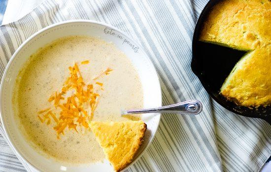 Creamy Keto Sausage Ball Soup- keto, low carb, gf