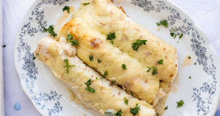 Low Carb Enchiladas with Shrimp- Restaurant Style